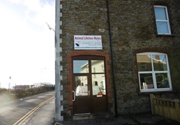 Exterior of the Animal Lifeline Wales Charity Shop in Burry Port